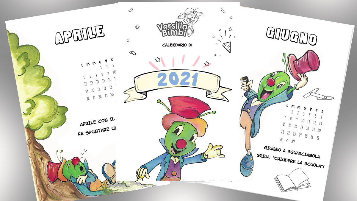 Un regalo per voi: Il Calendario di Versilia Bimbi da colorare