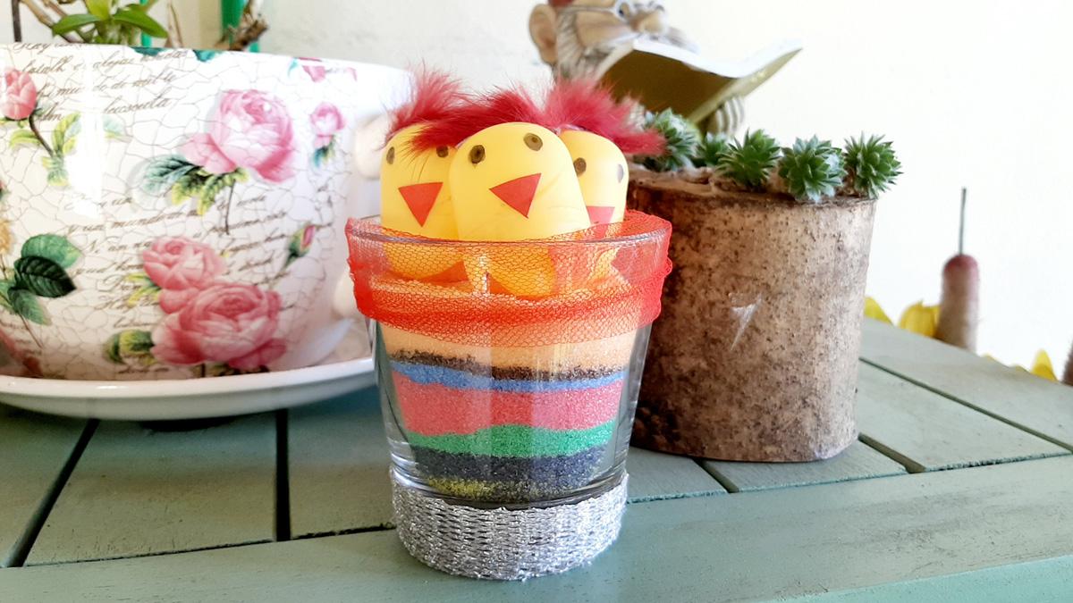 Il Nido dei Pulcini con lo zucchero colorato