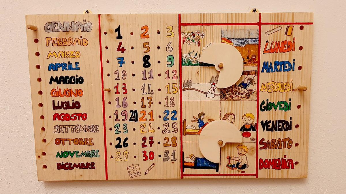 """Il """"Calendario del Tempo"""" in legno"""