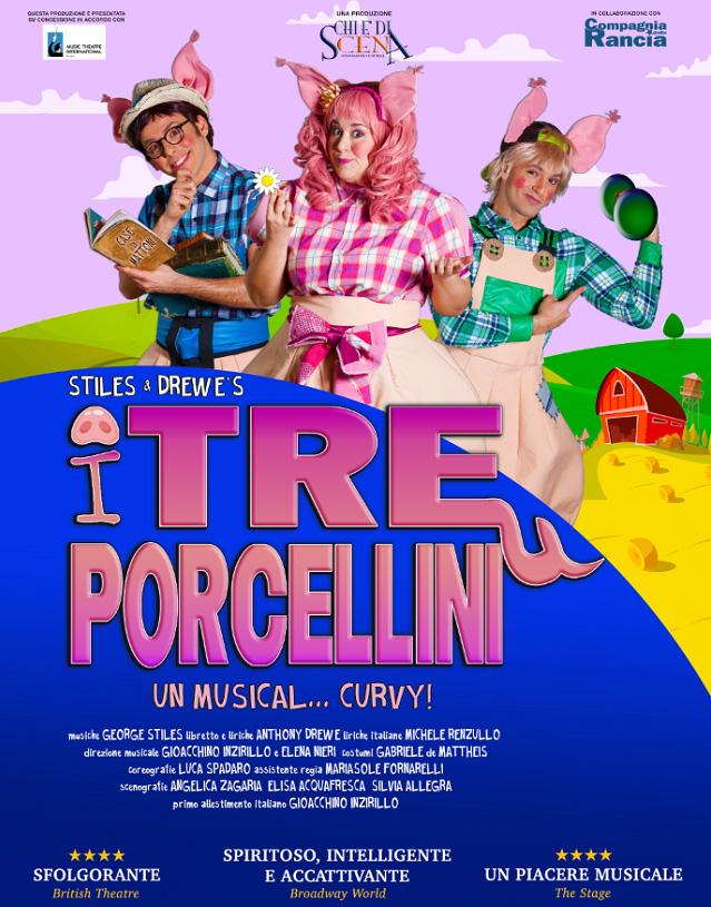 """""""I tre porcellini - Un musical curvy"""" in scena a Viareggio sabato 14 dicembre"""