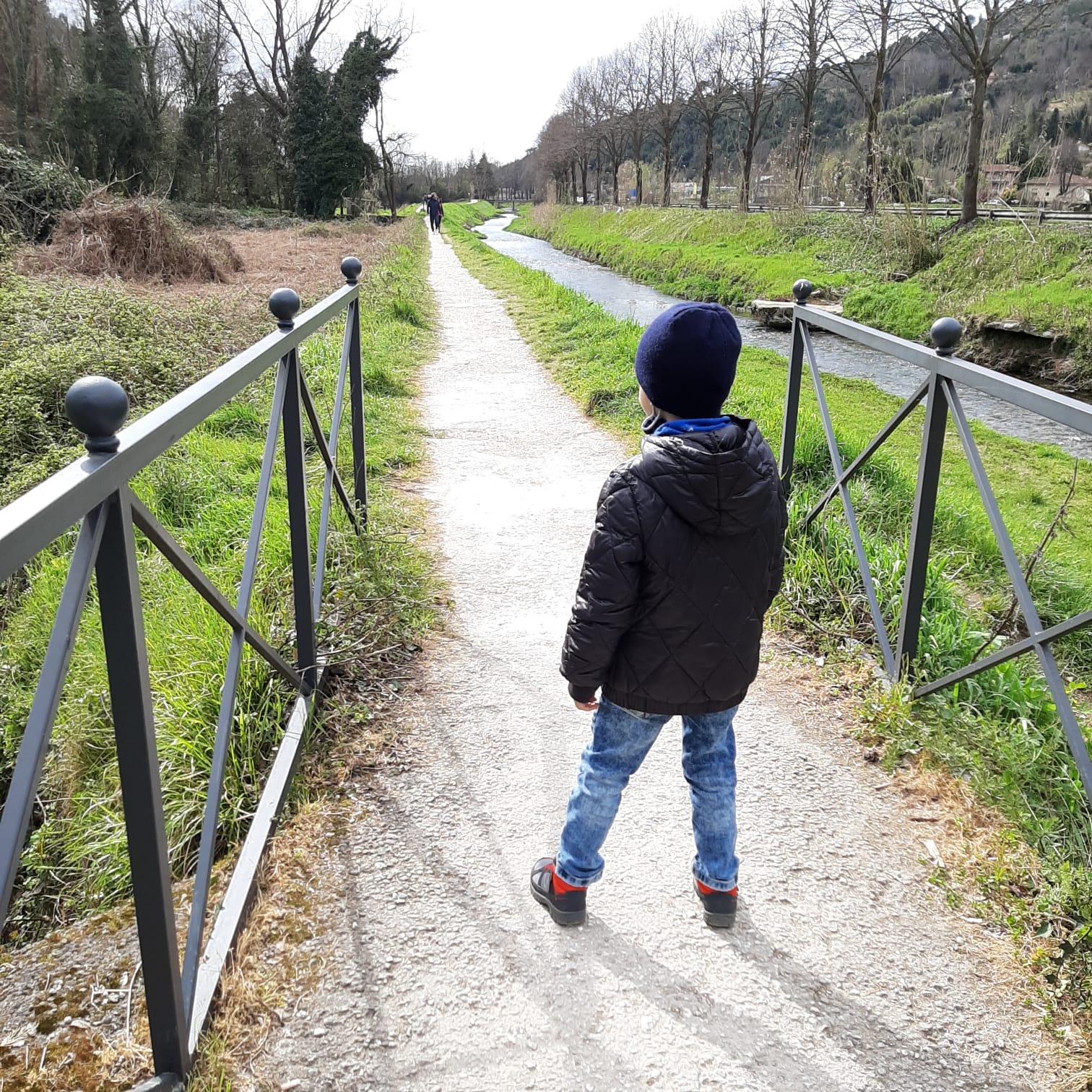 Una passeggiata lungofiume anche per i più piccini