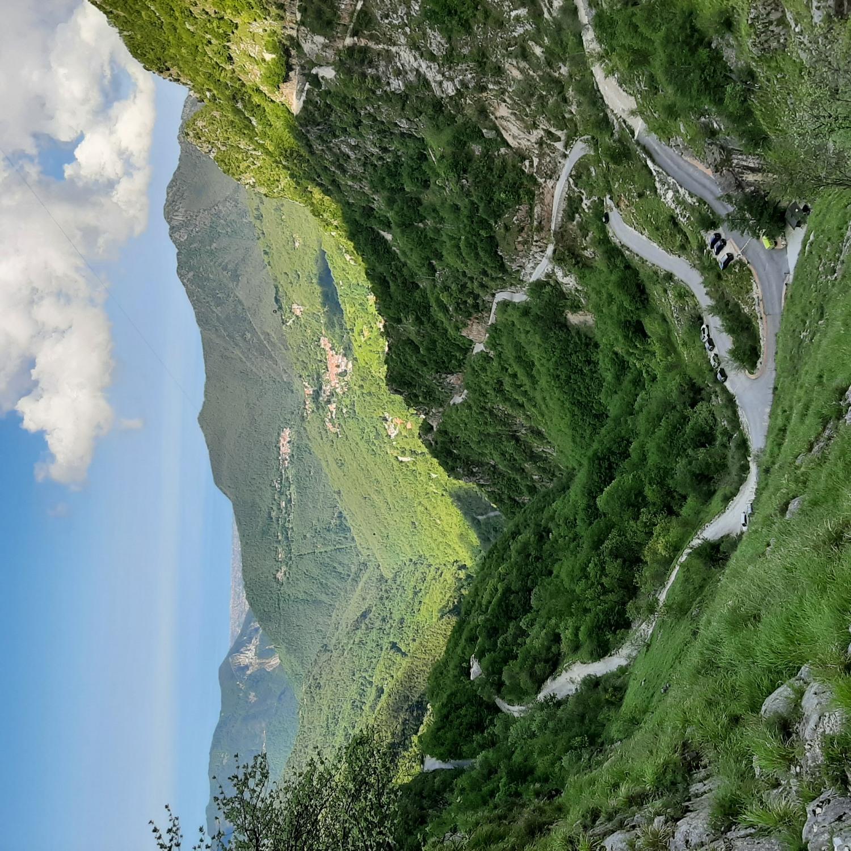 Il panorama delle Voltoline e la Foce di Mosceta