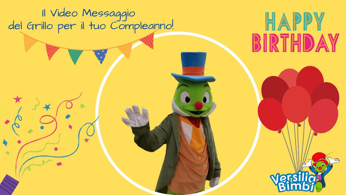 Richiedi il Video Messaggio personalizzato del Grillo per il Compleanno del tuo bambino