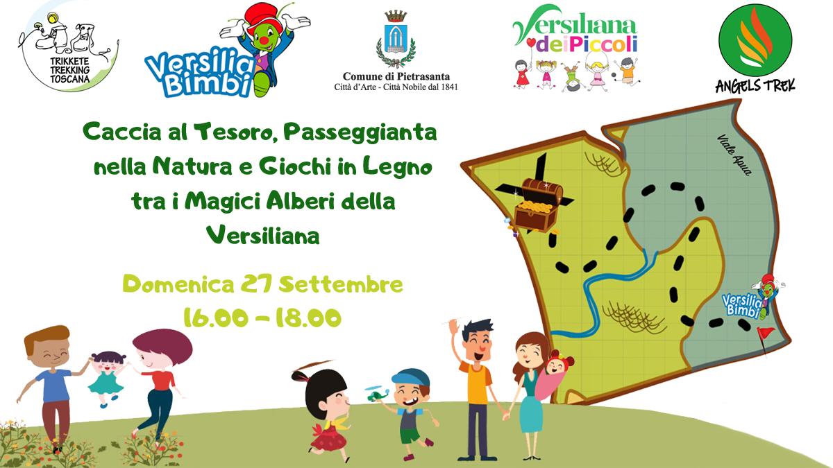 Caccia al Tesoro, Passeggiata nella natura e Giochi in Legno tra i magici alberi del Parco della Versiliana!