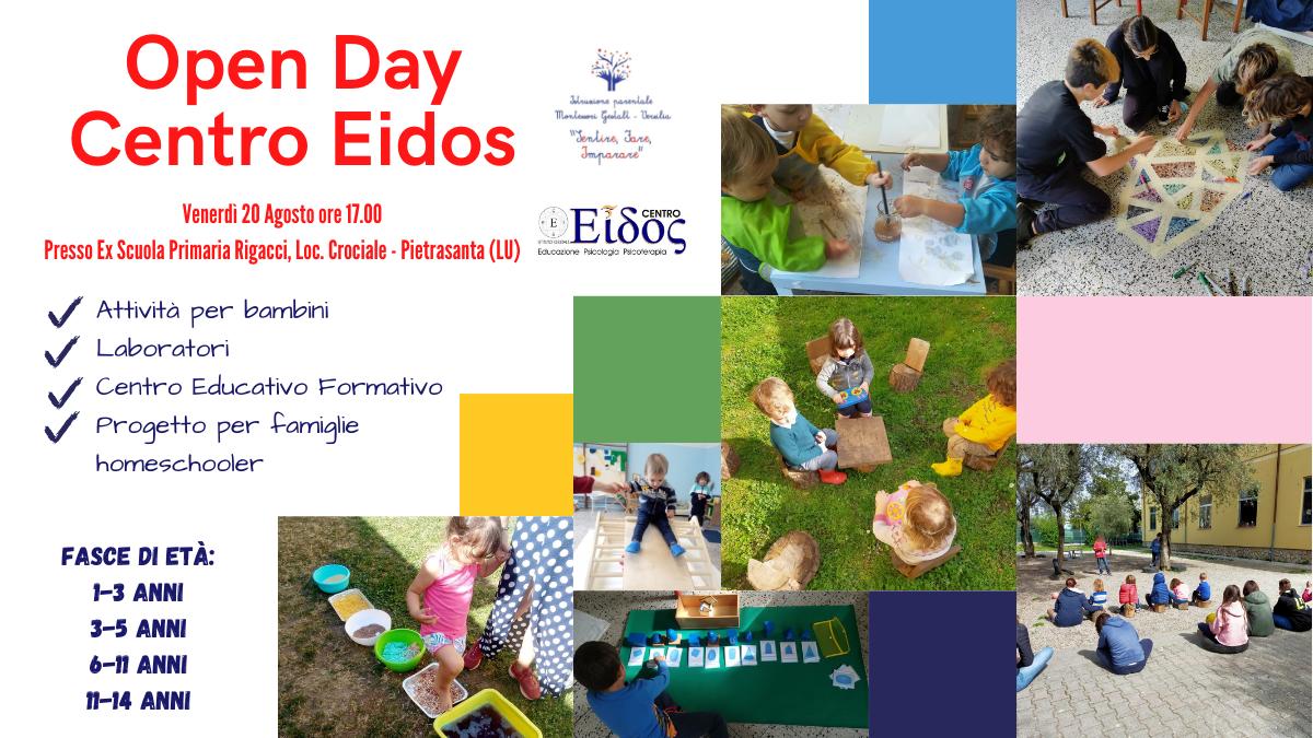 Open Day al Centro Eidos a Pietrasanta