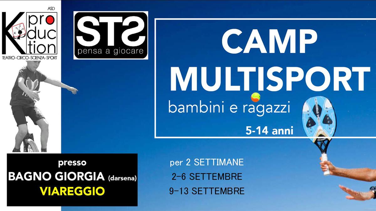 """A settembre """"Camp Multisport"""" a Viareggio per bambini dai 5 ai 12 anni"""