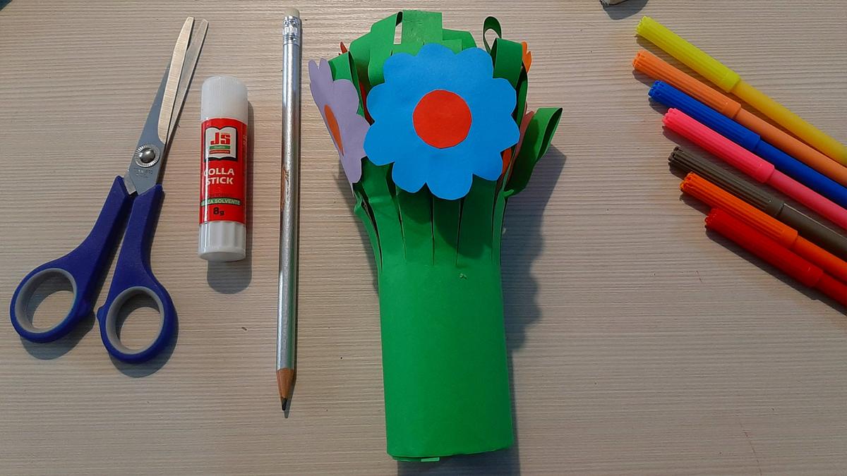 Il mazzo di fiori...di carta